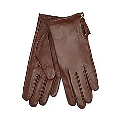 RJR.John Rocha - Brown tassel detailed leather gloves