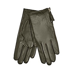 RJR.John Rocha - Khaki tassel detailed leather gloves