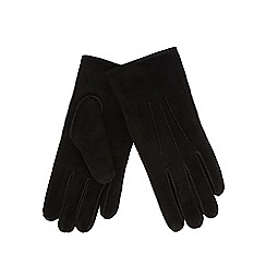RJR.John Rocha - Black suede borg lined gloves