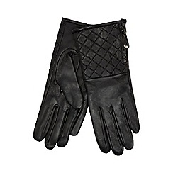 RJR.John Rocha - Black quilted cuff leather gloves