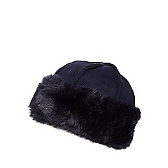 RJR.John Rocha - Navy faux fur cossack hat