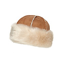 RJR.John Rocha - Tan faux fur cossack hat