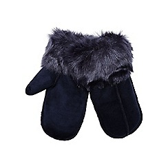 RJR.John Rocha - Navy faux fur lined mittens