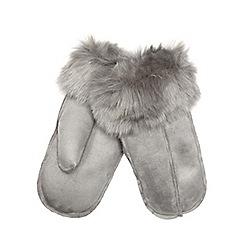 RJR.John Rocha - Grey faux fur lined mittens