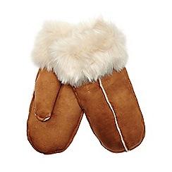 RJR.John Rocha - Tan faux fur lined mittens