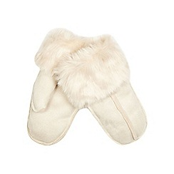 RJR.John Rocha - Cream faux fur gloves