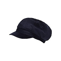RJR.John Rocha - Navy faux fur lined baker boy cap