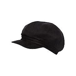 RJR.John Rocha - Black faux fur lined baker boy cap