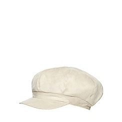 RJR.John Rocha - Cream faux fur lined baker boy cap