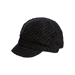 RJR.John Rocha - Black chunky woven cap with wool
