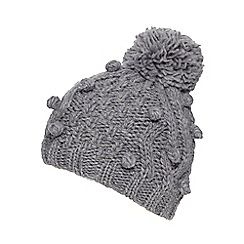 RJR.John Rocha - Grey cable knit bobble hat