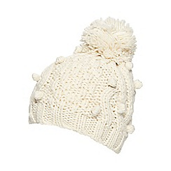 RJR.John Rocha - Cream cable knit bobble hat