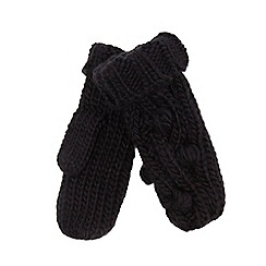 RJR.John Rocha - Navy blue bobble cable knit mittens
