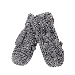 RJR.John Rocha - Grey bobble cable knit mittens