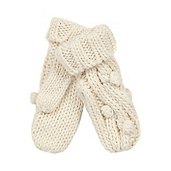 RJR.John Rocha - Cream bobble cable knit mittens