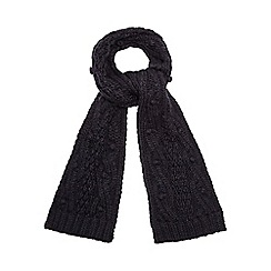RJR.John Rocha - Navy bobble cable knit scarf