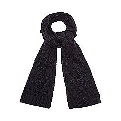 RJR.John Rocha - Navy bobble cable knit scarf