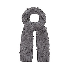 RJR.John Rocha - Grey bobble knit cable scarf