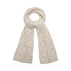 RJR.John Rocha - Cream bobble cable knit scarf