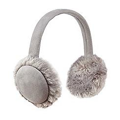 RJR.John Rocha - Grey faux sheep ear muffs