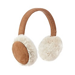 RJR.John Rocha - Tan faux sheep ear muffs