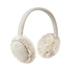 RJR.John Rocha - Cream faux sheep ear muffs