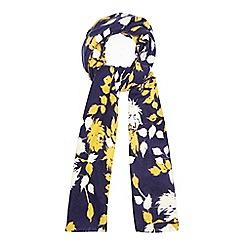 RJR.John Rocha - Navy floral woven scarf