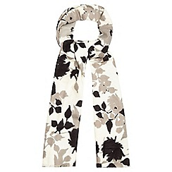 RJR.John Rocha - Cream leaf print scarf
