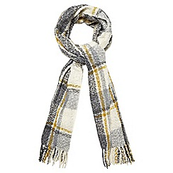 RJR.John Rocha - Grey woven checked print scarf