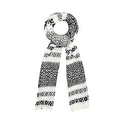 RJR.John Rocha - White jacquard woven scarf