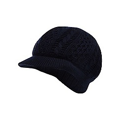 RJR.John Rocha - Navy baker boy knitted hat