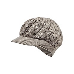 RJR.John Rocha - Grey baker boy knitted hat
