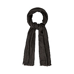 RJR.John Rocha - Dark grey diamond weave scarf