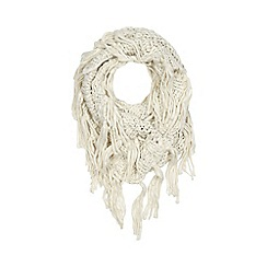 RJR.John Rocha - Cream chunky knit snood