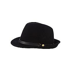 Nine by Savannah Miller - Black pure wool trilby hat