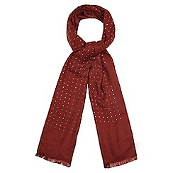 Nine by Savannah Miller - Dark red hotfix woven scarf