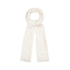 Nine by Savannah Miller - Light pink hotfix woven scarf