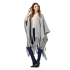 Nine by Savannah Miller - Grey tasselled trim wrap