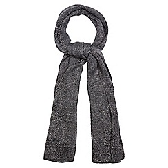 Nine by Savannah Miller - Dark grey knitted metallic scarf with mohair