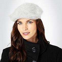 J by Jasper Conran - Light grey angora blend flat cap