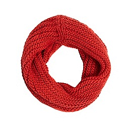 J by Jasper Conran - Red chunky knitted snood