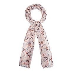 Red Herring - Pink floral print scarf