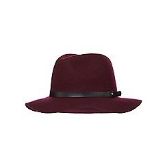 Red Herring - Dark red wool hat