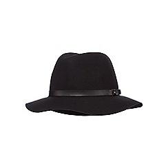 Red Herring - Black pure wool trim felt hat