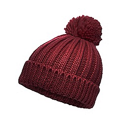 Red Herring - Red oversized pom beanie hat