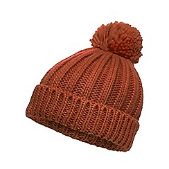 Red Herring - Orange oversized pom beanie hat