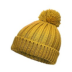 Red Herring - Yellow oversized pom beanie hat