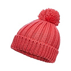 Red Herring - Pink oversized pom beanie hat