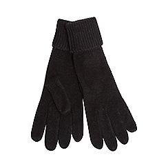 Red Herring - Black knitted gloves