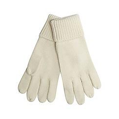 Red Herring - Cream knitted gloves